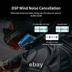2x Motorcycle Bluetooth Headset Helmet Intercom LEXIN B4FM Loudly & Noise Cancel