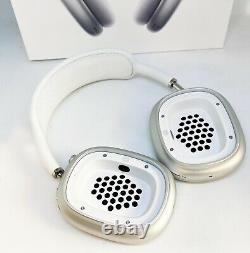 Apple AirPods Max Bluetooth Over-Ear Noise-Cancelling Headphones Silver READ