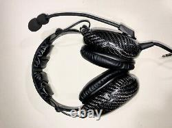 Avcomm AC1000 Carbon, Noise Cancelling ANR Aviation Headset, Bluetooth