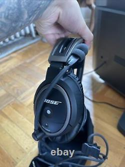 Bose A20 General Aviation Headset Noise Cancelling Dual Twin Plug