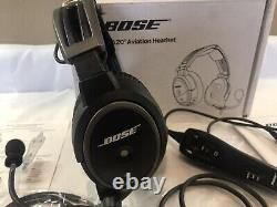 Bose A20 Noise Cancelling Pilot Headset Aviation Airplane Headphones Ww Ship