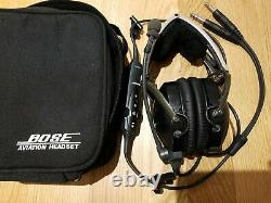 Bose X Aviation headset twin plug active noise cancelling, excellent condition