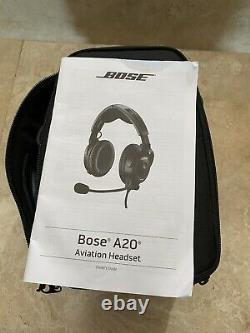 Bose a20 aviation noise cancelling headset dual plug