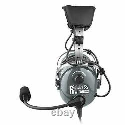 General Aviation Pilot Headset with GA Dual Plugs, Noise Cancelling Mic, MP3