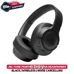 JBL TUNE 750BTNC Black Wireless Over-Ear Active Noise Cancelling Headphones New
