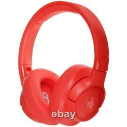 JBL TUNE 750BTNC Red Wireless Over-Ear Active Noise Cancelling Headphones New