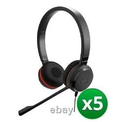 Jabra Evolve 30 II MS Duo Corded Headset with Noise-Canceling Microphone (5-Pk)