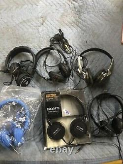 LOT Of 6 of Sony. Nagamichi. Skull Candy Noise cancelling head phones 6x