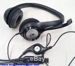 Logitech H390 USB Headset Headset with Noise Cancelling Microphone Brand New