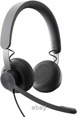 Logitech Zone Wired Noise Cancelling Headset, Certified for Microsoft Teams