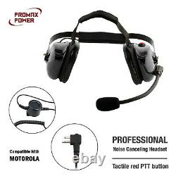 Professional Noise Canceling Dual Muff Racing Headset for Motorola CP200 CLS1110