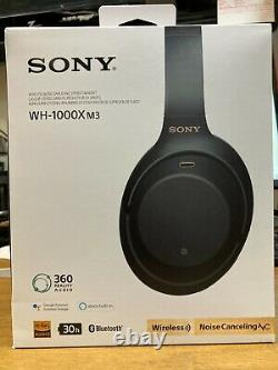 SONY WH-1000X M3 Wireless Noise Canceling Stereo Headset (Black) Bluetooth