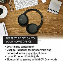 Sony Noise Cancelling Headphones Wireless Bluetooth Over the Ear Headset with Mi