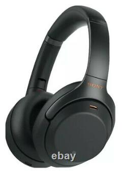 Sony WH-1000XM3/B Bluetooth Wireless Noise Canceling Stereo Headphones Black