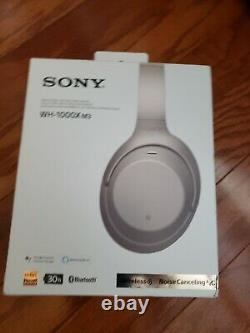 Sony WH-1000XM3 Wireless Noise Canceling Stereo Silver Headphones Headset
