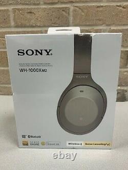 Sony Wireless Noise-Cancelling Headphones WH-1000XM2 Gold Over-Ear Headset NEW