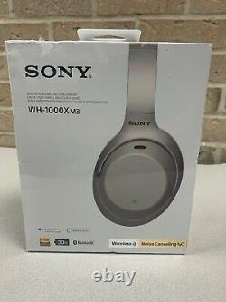 Sony Wireless Noise-Cancelling Headphones WH-1000XM3 Silver Over-Ear Headset NEW